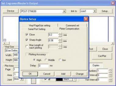 Cài thông số phần mềm Artcut2005 cho máy PCUT