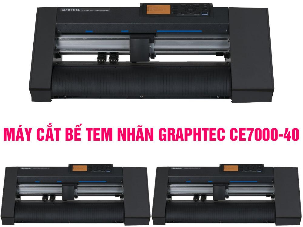 Máy cắt bế tem nhãn decal Graphtec CE7000-40 cho dịch vụ in nhanh
